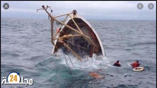 غرق سفينة بميناء أكادير و صدمة العاملين