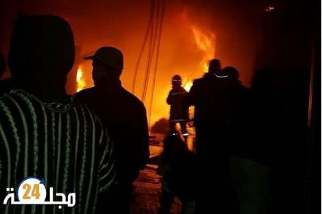 زاكورة.. حريق مهول يأتي على سوق أسبوعي ويحوله إلى رماد
