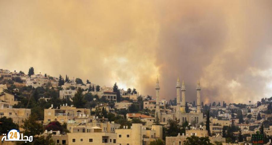 اندلاع حريق كبير قرب القدس وإجلاء سكان عدة قرى