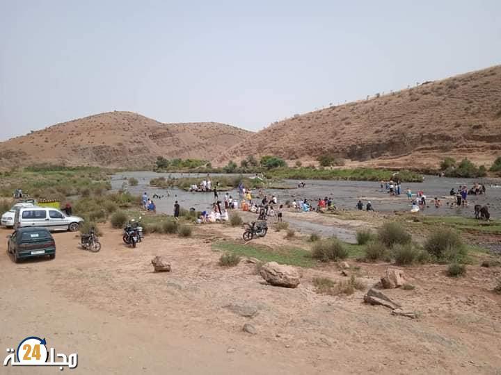 ضفاف نهر أم الربيع بمنطقة بولعوان أو وادي الموت ( صور )