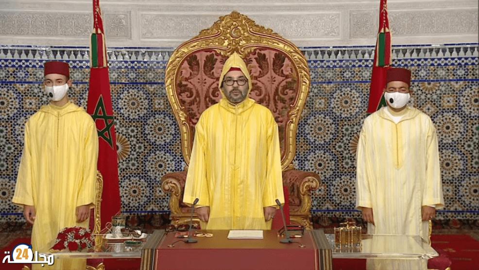 جلالة الملك يوجه خطابا ساميا بمناسبة افتتاح الدورة الأولى من السنة التشريعية الأولى من الولاية الحادية عشرة