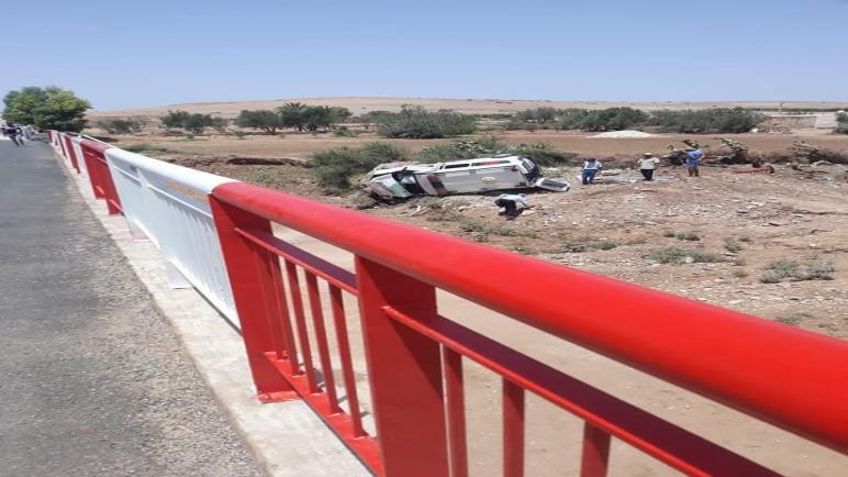 البروج : مصرع سيدة وإصابة 5 آخرين في حادث اصطدام سيارة إسعاف بسيارة