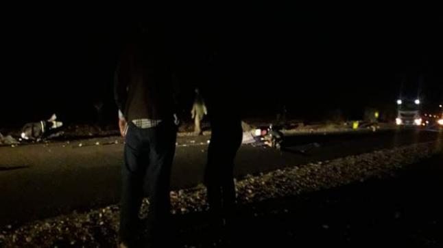 مصرع شخصين في حادث مروري ضواحي اشتوكة