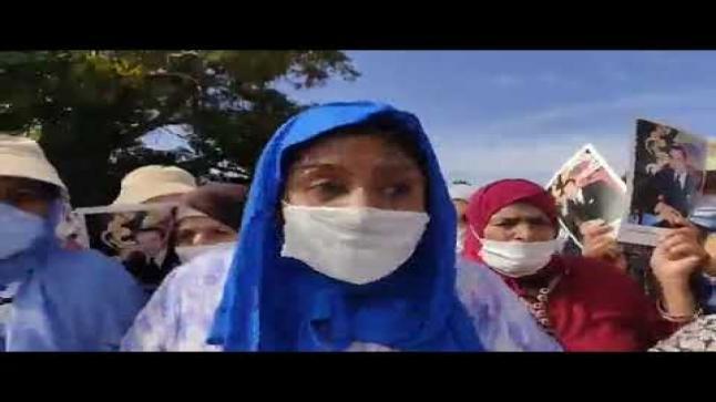 بالفيديو..عاجل ارباب الحمامات في مسيرة حاشدة أمام عمالة سطات